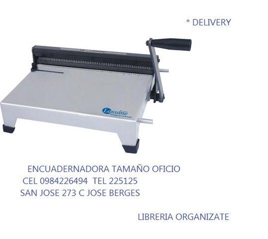 Vendo aspiraladora encuadernadora anilladora delivery for Delivery asuncion