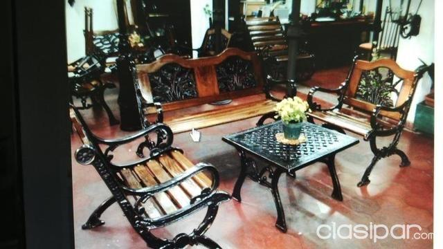 Muebles De Jardin Bancos Dobles Bancos Individuales En Metal En ...