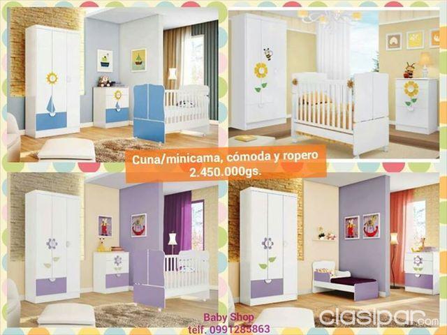 Muebles para bebes, cuna, comoda y roperitos | Clasipar.com en Paraguay