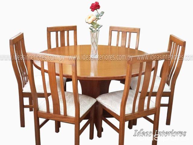 Juego de comedor - Mesa redonda con 6 sillas - (Ideas Interiores ...