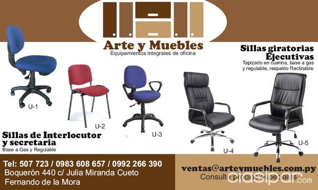 SILLAS GIRATORIAS DE OFICINA #70909 | Clasipar.com en Paraguay