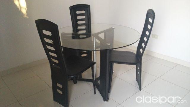 Mesa de vidrio para comedor, con sillas #608071   Clasipar ...