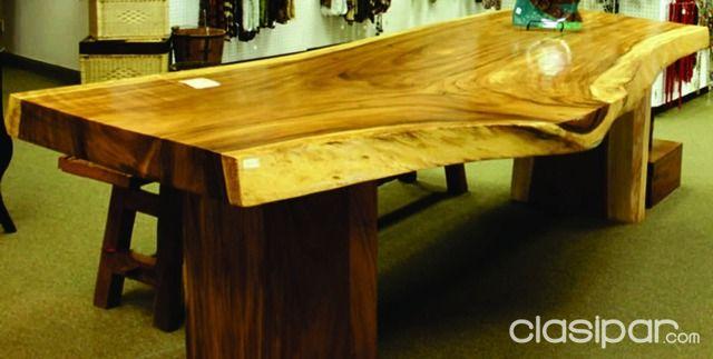 Hermosa mesa de madera para quincho 447724 - Mesas de troncos de madera ...