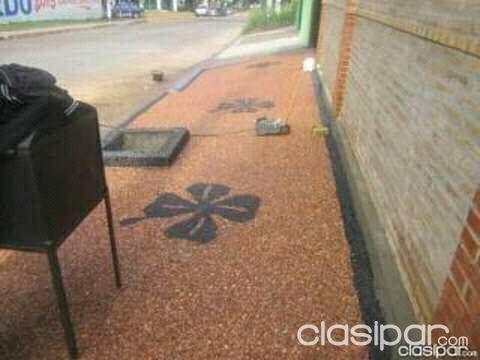 Pisos Cantos rodados insitu diseños colores | Clasipar.com en Paraguay