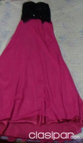 Vestidos de 15 color negro y rosa