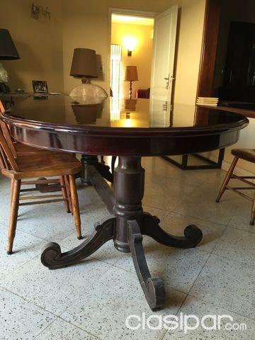 VENDO! Mesa de Comedor Ovalada Estilo Antiguo Clásico #830700 ...