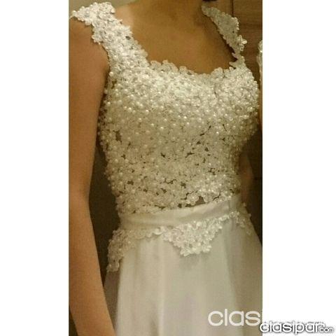 378068c81 Ropa y calzados - Vestido blanco para colación