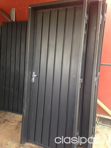Puerta metalica con marco de metal a tan solo 61827 for Puertas corredizas de metal