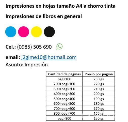 Impresiones de libros, folletos en general | Clasipar.com en Paraguay