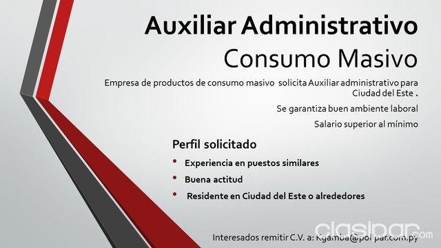 Auxiliar Administrativo | Clasipar.com en Paraguay