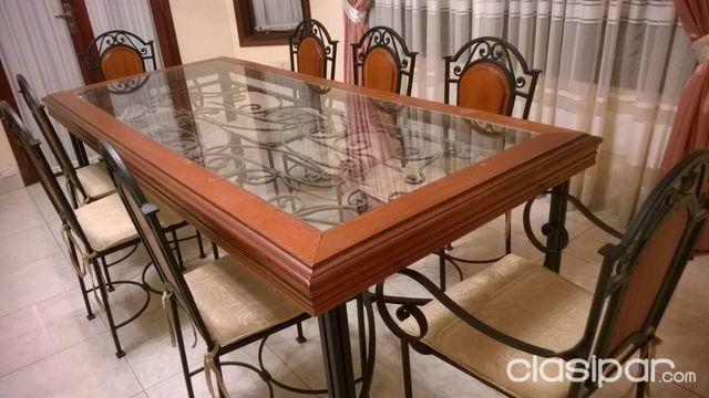 Mesa para comedor madera y metal #124873 | Clasipar.com en Paraguay