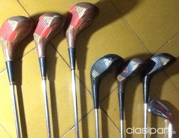 47bc914537dea Arte - Antigüedades - Vendo lote de palos de golf con el porta palos para  golf