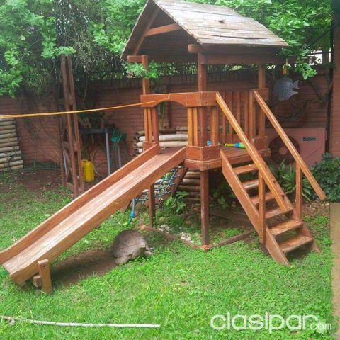 Juegos para jardin-columpio y casita de madera #870350 | Clasipar ...