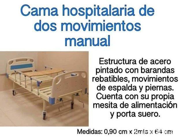 Cama hospitalaria manual dos movimientos $ 1. 699. 000 en mercado.