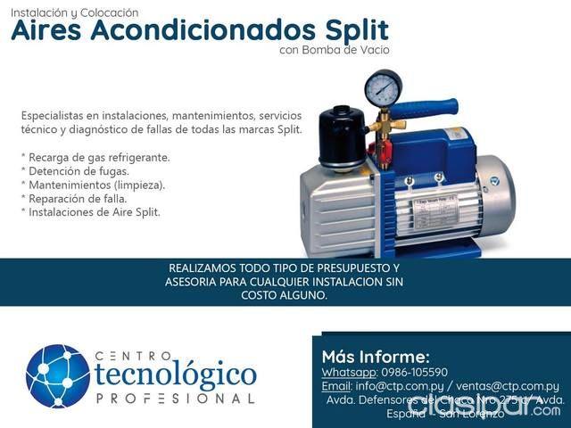 Instalación y Colocación Aires Acondicionados TIpo Split con Bomba ...