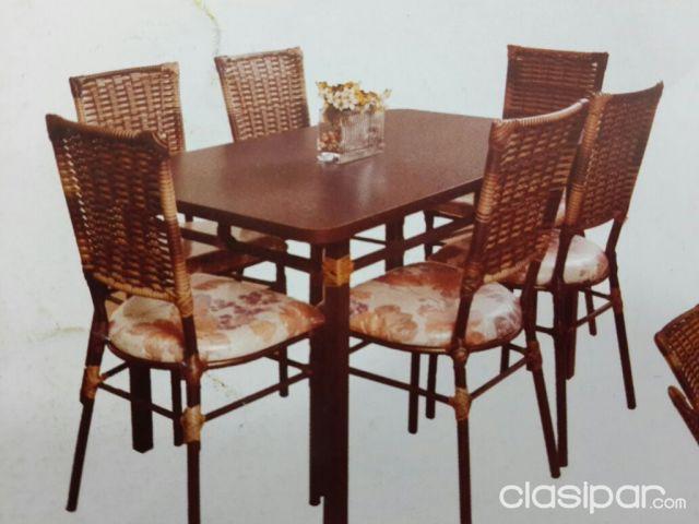 Juego de mesa Con 6 sillas para comedor #974578 | Clasipar.com en ...