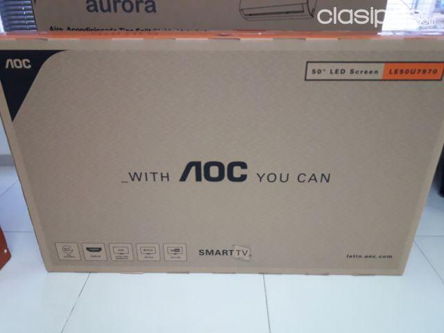 02c870a8091 Celulares - Teléfonos - Smart Tv AOC 50 4k . Nuevos en caja. Iva incluido