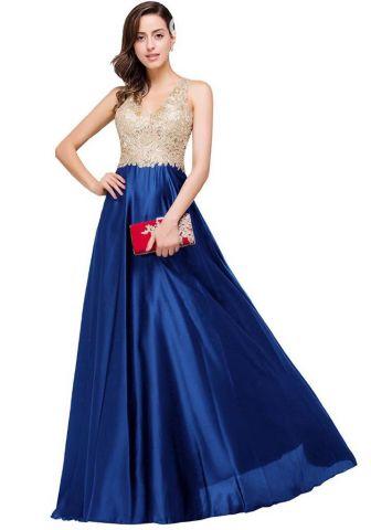 El vestido azul con dorado