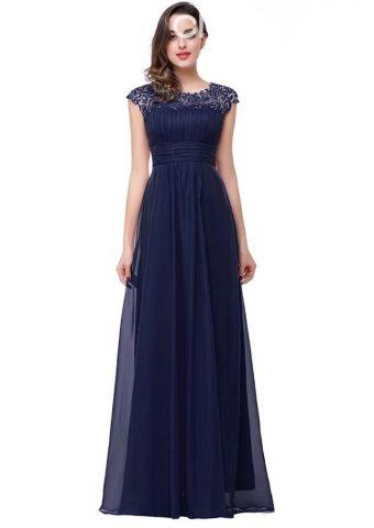 Fotos de vestidos de color azul marino