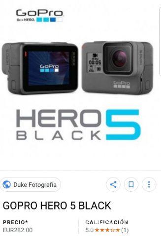9952196a969 Cámaras y accesorios - Go pro hero 5 black