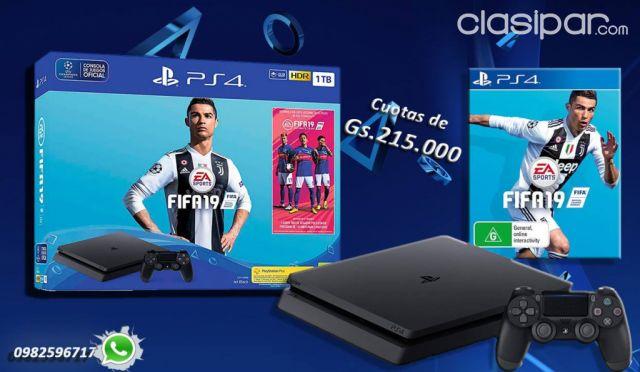 Consolas De Juegos Sony Ps4 1 Tera Fifa 2019 Xbox One Ps3 Wii Play