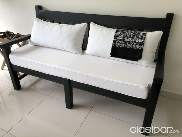 Juego de sillones para galería o jardín en madera negros (Impacto ...