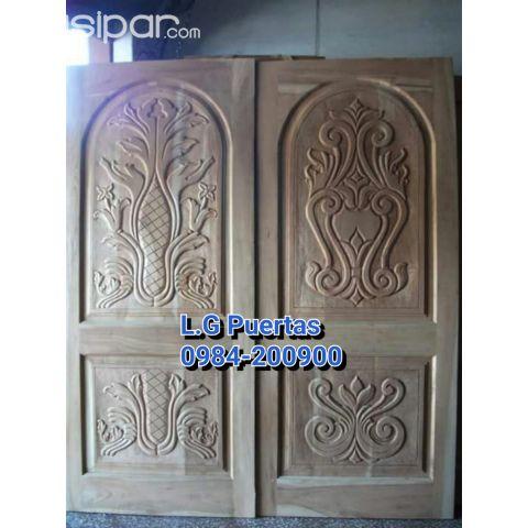 Puertas Talladas En Madera Para Acceso Principal L G Muebles Y
