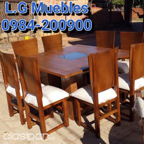 Juego de comedor para 8 sillas mesa cuadrada...L.G Muebles y ...