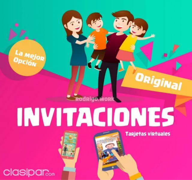 Tarjeta Invitación Digital En Video Cumpleaños 15 Años